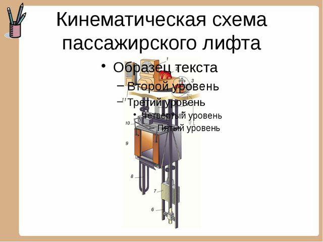 Кинематическая схема пассажирского лифта