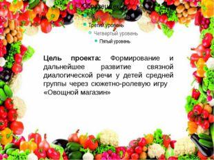 Цель проекта: Формирование и дальнейшее развитие связной диалогической речи