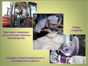 Тракторист-машинист сельскохозяйственного производства Сварщик (электросвароч