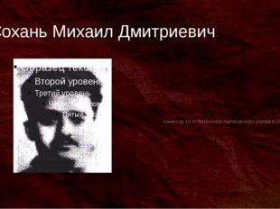 Сохань Михаил Дмитриевич комиссар 10-го Ялтинского партизанского отряда в 194