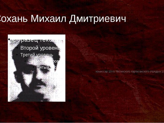 Сохань Михаил Дмитриевич комиссар 10-го Ялтинского партизанского отряда в 194...
