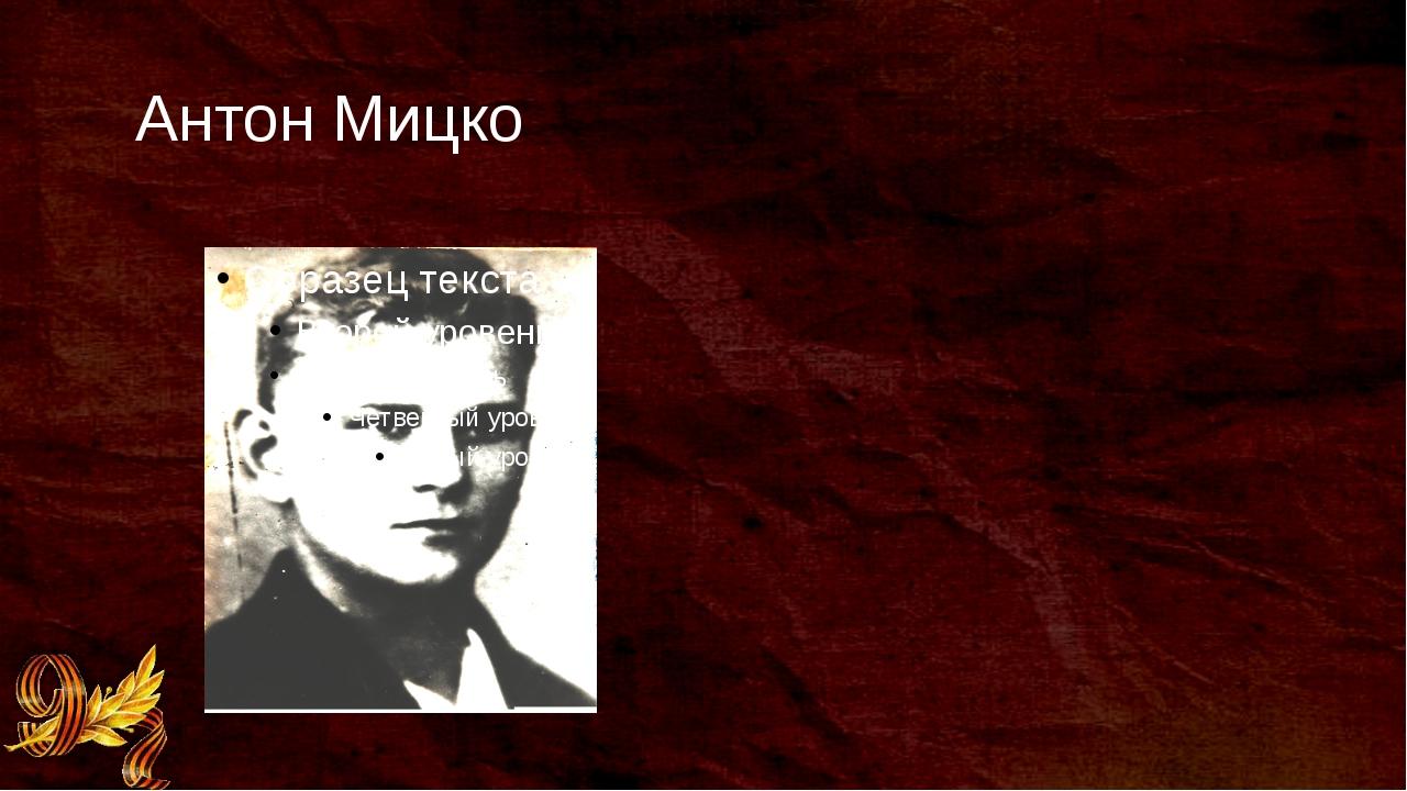 Антон Мицко