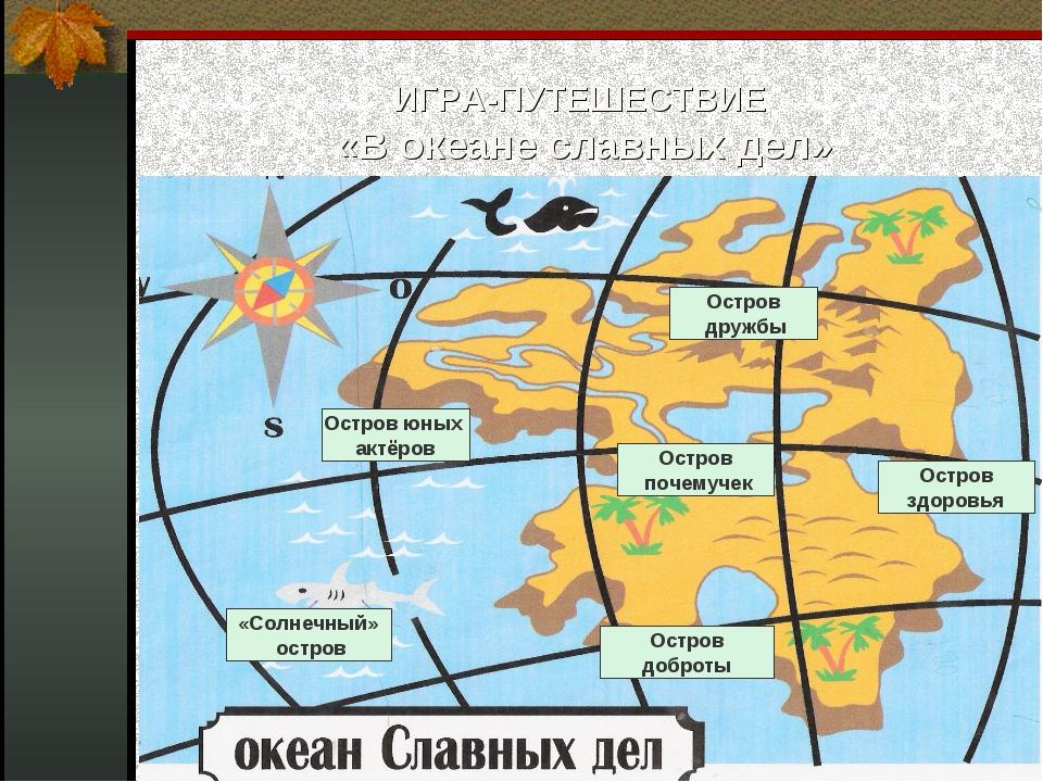ИГРА-ПУТЕШЕСТВИЕ «В океане славных дел» «Солнечный» остров Остров юных актёро...