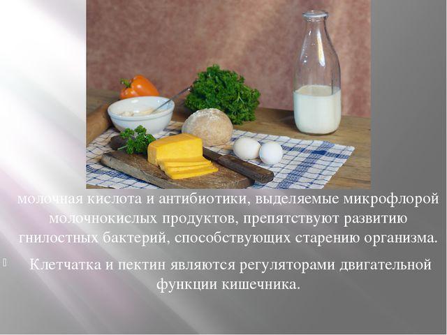 молочная кислота и антибиотики, выделяемые микрофлорой молочнокислых продукто...