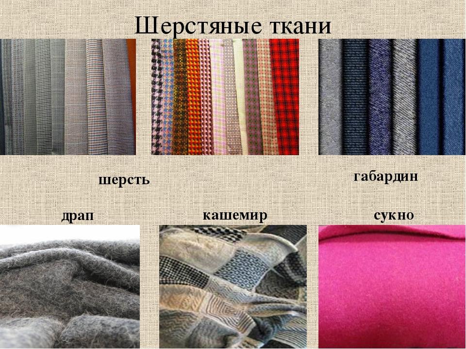 Виды тканей для одежды с картинками
