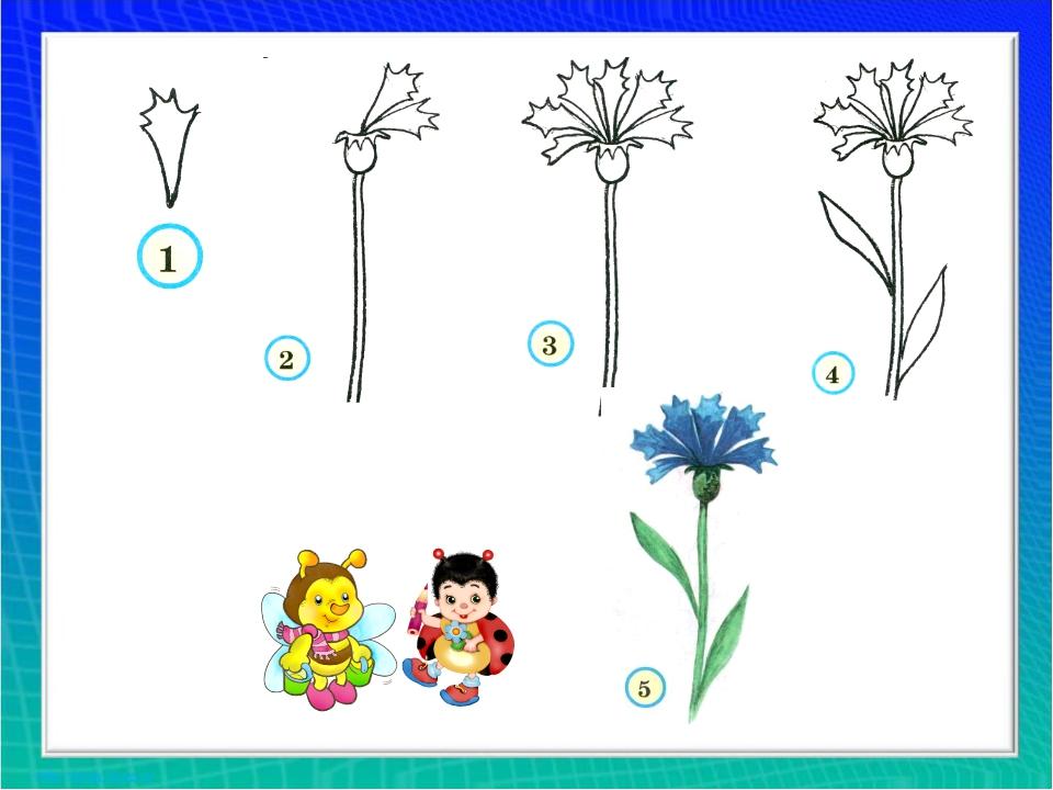 Как нарисовать цветок смс