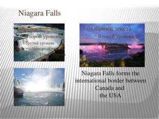 Niagara Falls Niagara Falls forms the international border between Canada an