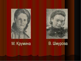М. Крумина В. Шмурова