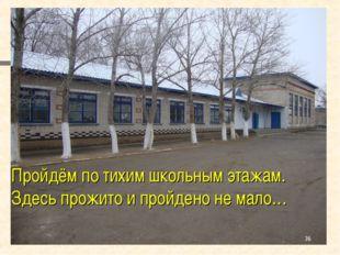 Пройдём по тихим школьным этажам. Здесь прожито и пройдено не мало… *