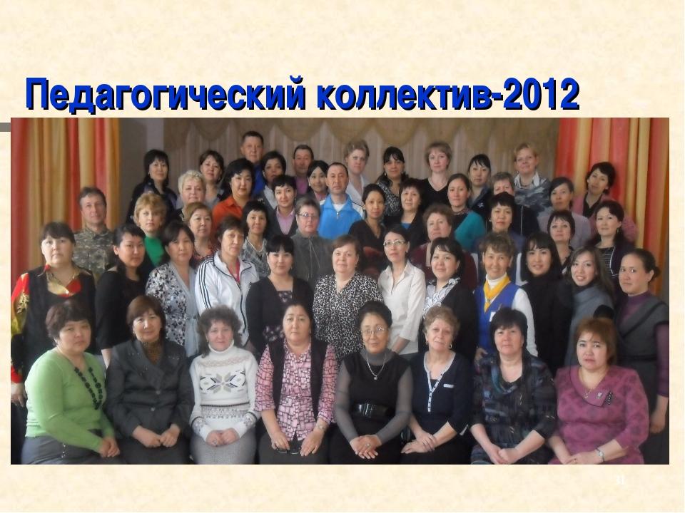 Педагогический коллектив-2012 *