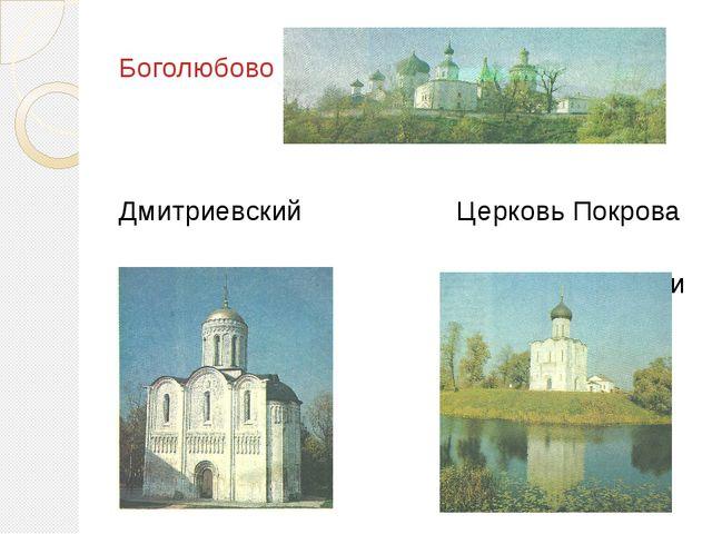 Боголюбово Дмитриевский Церковь Покрова собор на Нерли