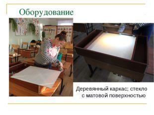 Оборудование Оборудование Деревянный каркас; стекло с матовой поверхностью