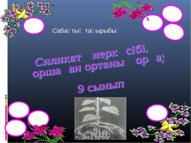 Сабақтың тақырыбы: Si Si Si Si Si Si Si Si