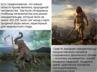 Есть предположение, что южные области Крыма являлись прародиной человечества.