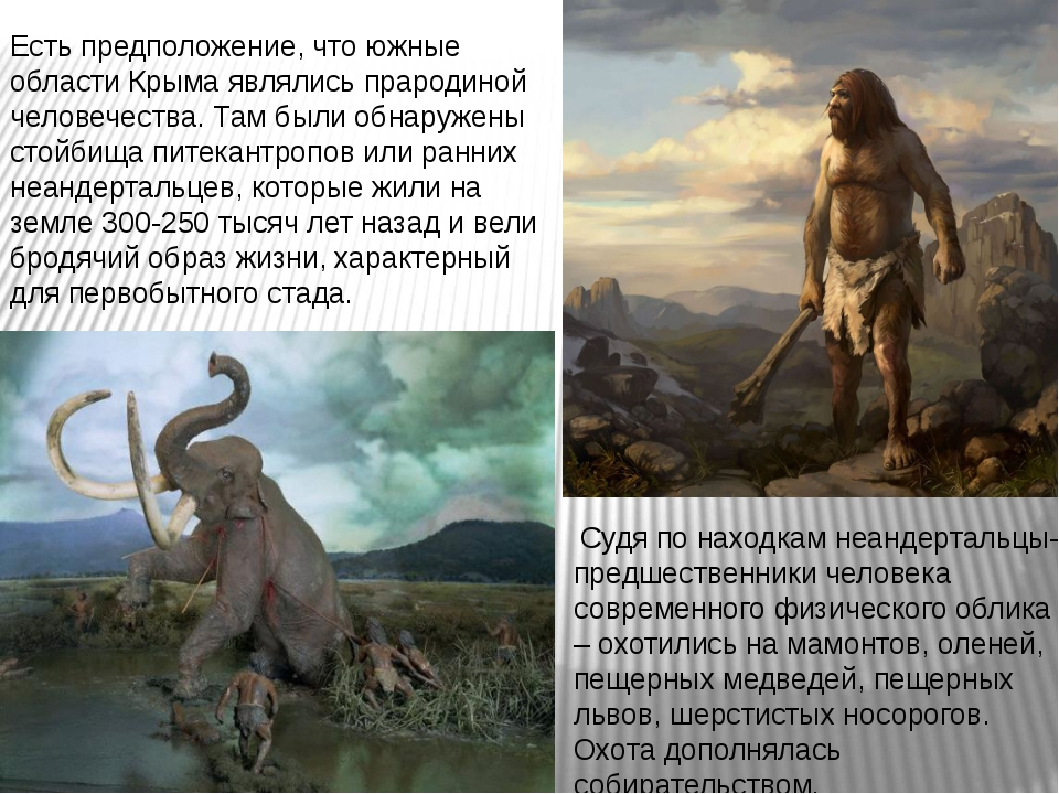 Есть предположение, что южные области Крыма являлись прародиной человечества....
