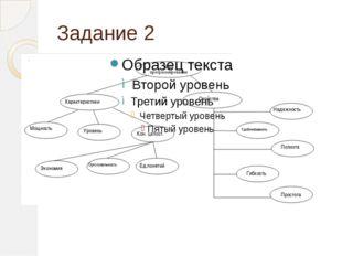 Задание 2 Характеристики Мощность Уровень Кон. целост. Экономия Ортогональнос