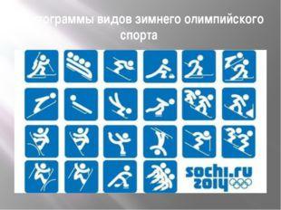 Пиктограммы видов зимнего олимпийского спорта