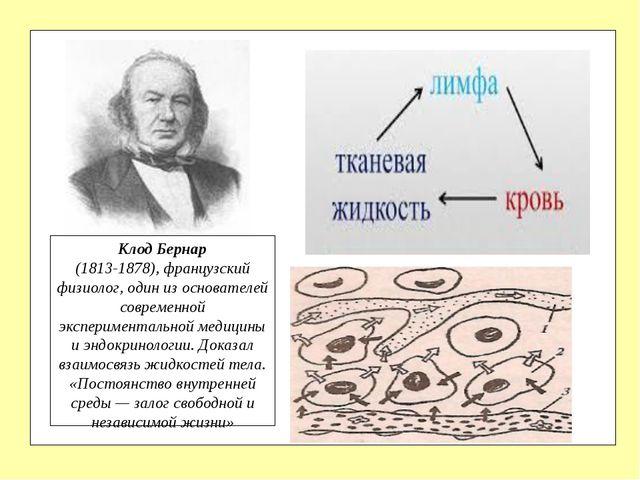 Клод Бернар (1813-1878), французский физиолог, один из основателей современн...