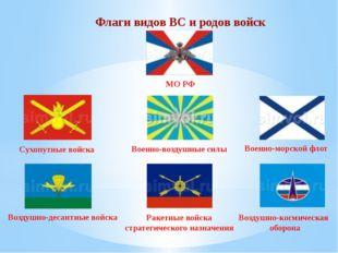 Флаги видов ВС и родов войск МО РФ Сухопутные войска Военно-воздушные силы Во