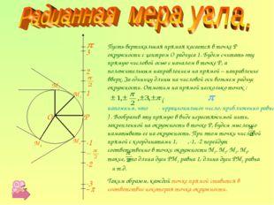 P O M1 M2 M3 M4 1 -1 2 -2 -3 3 Пусть вертикальная прямая касается в точке P о