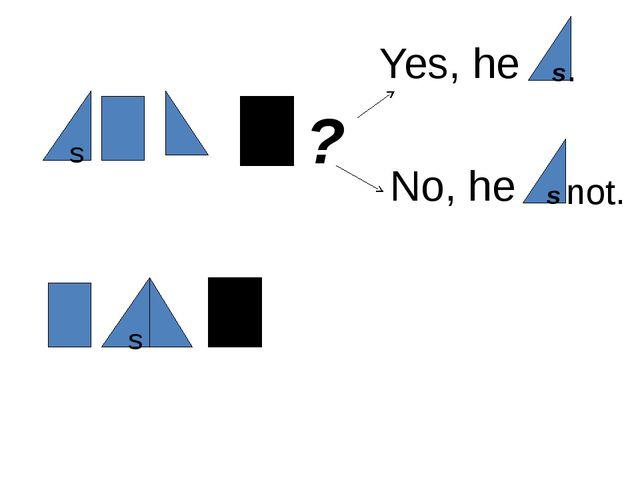 s ? Yes, he s . No, he s not. s