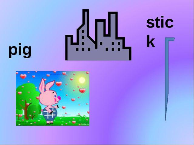 pig stick