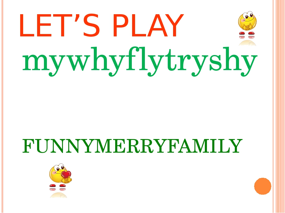LET'S PLAY mywhyflytryshy FUNNYMERRYFAMILY