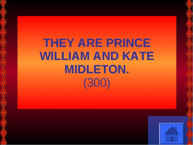 THEY ARE PRINCE WILLIAM AND KATE MIDLETON. (300)