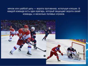 Хокке́й — это вид спорта, в котором две команды стараются поразить мячом или