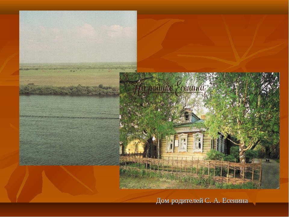 Дом родителей С. А. Есенина