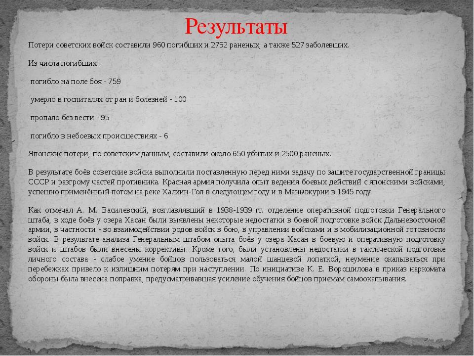 Потери советских войск составили 960 погибших и 2752 раненых, а также 527 заб...