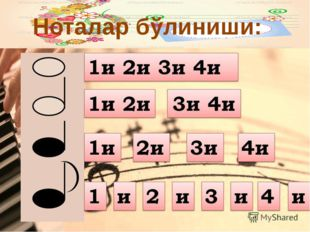 Ноталар бўлиниши: