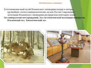 Естественнонаучный музей Ильменского заповедника входит в пятерку крупнейших