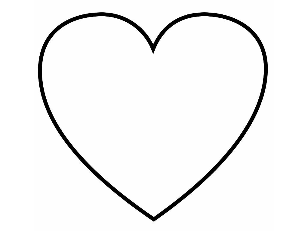 Раскраска сердечка распечатать