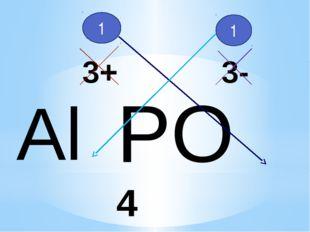 Al PO4 3+ 3- 1 1