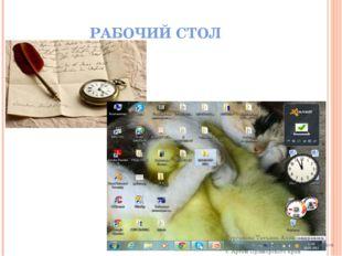 РАБОЧИЙ СТОЛ Сурганова Татьяна Александровна учитель информатики КШИ 3-4 видо