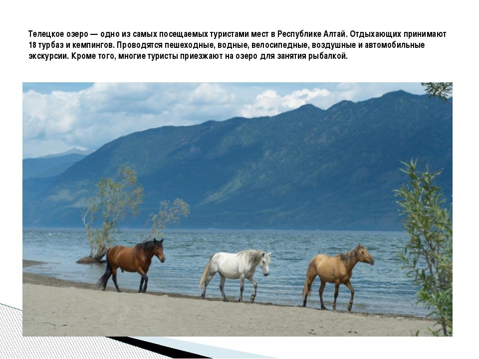 Телецкое озеро— одно из самых посещаемых туристами мест в Республике Алтай....