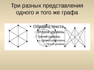 Три разных представления одного и того же графа