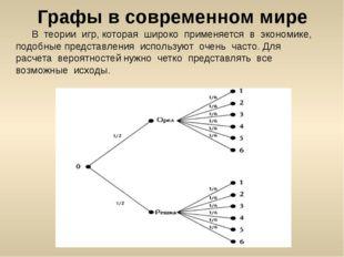 Графы в современном мире В теории игр, которая широко применяется в экономик
