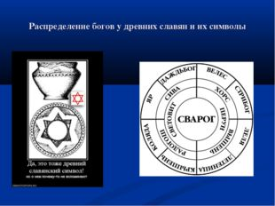 Распределение богов у древних славян и их символы