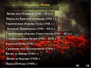Битва под Москвой (30 сентября 1941г. – 20 апреля 1942 г.) Битва под Москвой