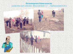 Волонтерская деятельность (шефство над семьями: Мингажевой С.Г. , Турдахуново