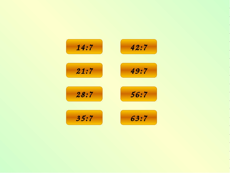 2 14:7 3 21:7 4 28:7 5 35:7 6 42:7 7 49:7 8 56:7 9 63:7