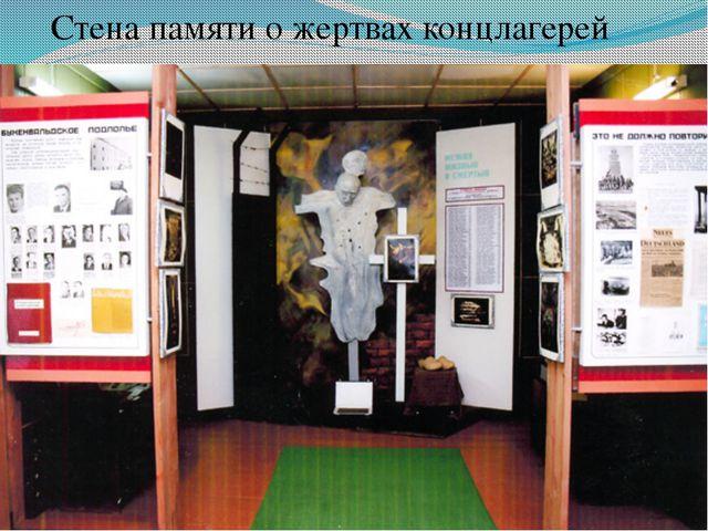Стена памяти о жертвах концлагерей