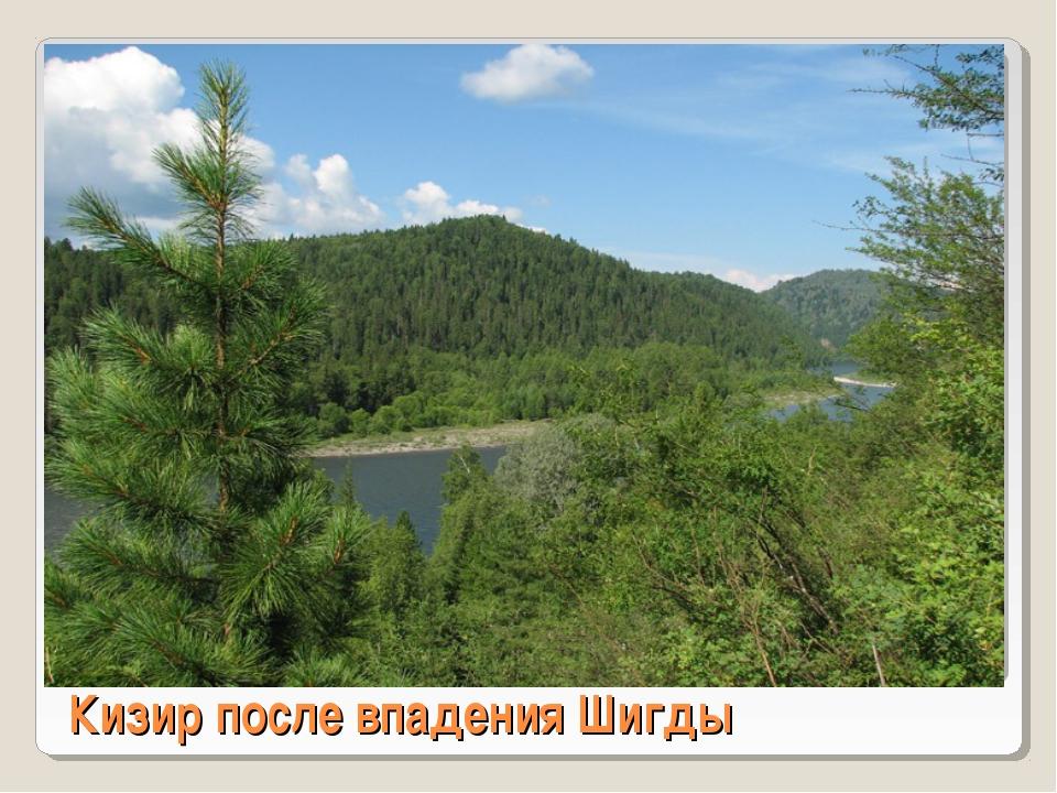 Кизир после впадения Шигды
