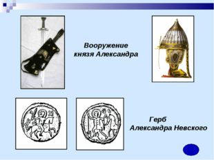 Вооружение князя Александра Герб Александра Невского