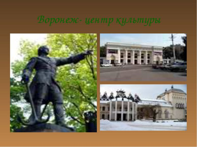 Воронеж- центр культуры