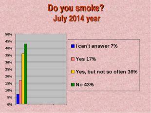 Do you smoke? July 2014 year