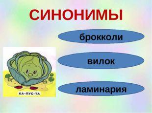 СИНОНИМЫ брокколи вилок ламинария