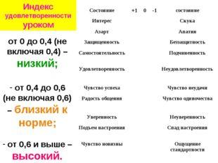 от 0 до 0,4 (не включая 0,4) – низкий; от 0,4 до 0,6 (не включая 0,6) – близк